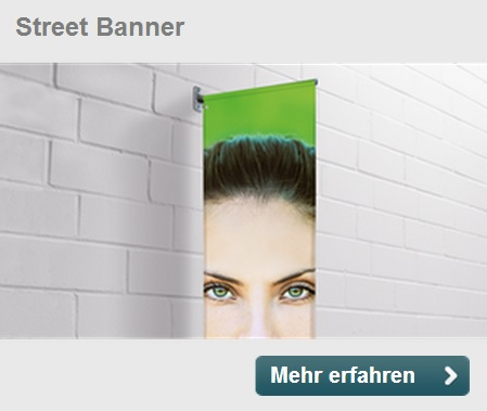 Strassenwerbung Marketing Strassenzug